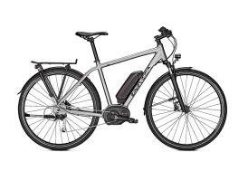 vélo électrique trekking univega 28 pouces aluminium gris