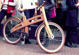 Vélo de ville en bois 26 pouces 2 vitesses Sram