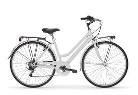Vélo de ville Touring 28 pouces 6 vitesses blanc